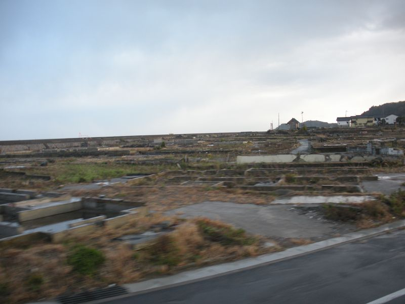 Tsunami swept village